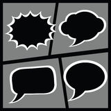 Set of comic dialogue box Royalty Free Stock Images