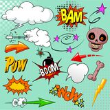 Set of comic elements Stock Photography