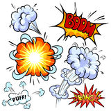 Set of comic explosion Royalty Free Stock Images