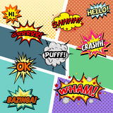 Set of comic sound effects Stock Photo