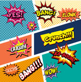 Set of comic sound effects Stock Images
