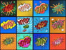 Set of comic sound effects. Royalty Free Stock Image