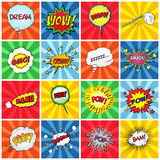 Set of comic sound effects Royalty Free Stock Images