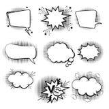 Set of comic speech bubbles. Cartoon icons. Vector Illustration royalty free stock photo