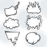 Set of comic speech bubbles in cartoon style Stock Photo