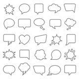 Set of comic speech bubbles. vector illustration