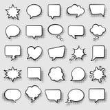 Set of comic speech bubbles vector illustration