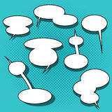 Set of comic speech bubbles Stock Photo