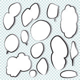 Set of comic speech bubbles. Royalty Free Stock Photo
