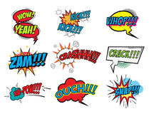 Set of comic style phrases. Royalty Free Stock Photos