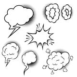 Set of comic style speech balloons. Design elements for poster, banner, card. vector illustration