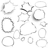 Set of comic style speech bubbles. Stock Photo