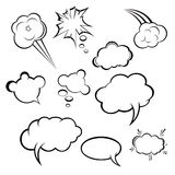 Set of comic style speech bubbles Royalty Free Stock Photos