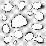 Set of comic style speech bubbles. EPS 10 Stock Images
