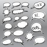 Set of comic style talk clouds Royalty Free Stock Photos