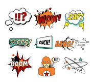 Set of Comic Text, Pop Art style Royalty Free Stock Image