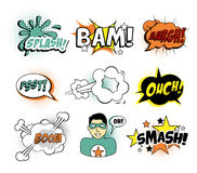 Set of Comic Text, Pop Art style Stock Images