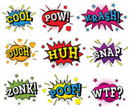 Set of Comic Text in Pop Art Style. Royalty Free Stock Image