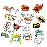 Set of Comic Text, Pop Art Style. Vector Royalty Free Stock Photo