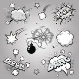 Set of comics boom, vector illustration Stock Images