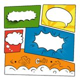 Set comics bubbles Royalty Free Stock Photos