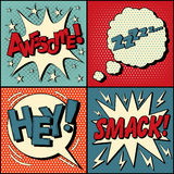 Set of Comics Bubbles in Pop Art Style Stock Photography