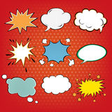Set of Comics Bubbles in Pop Art Style. Vector illustration Stock Photography