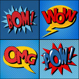 Set of Comics Bubbles in Vintage Style Stock Photo