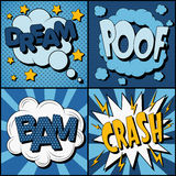 Set of Comics Bubbles in Vintage Style Royalty Free Stock Photo