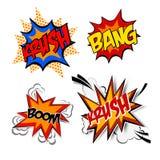 Set of comics icon Pop art Speech Bubble. vector illustration Stock Images