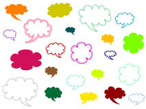 Set of comics speech bubbles. Colorful set of comics speech bubbles Stock Photography
