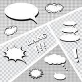 Set of comics speech bubbles. Vector illustration Stock Image