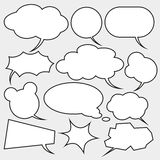 Set of comics style speech bubbles. Set of comics style speech bubbles on gray Stock Photography