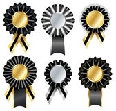 Set of commemorative  label and ribbon Royalty Free Stock Images