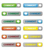 Set of comment button Stock Images