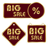Set of commercial badges Royalty Free Stock Images