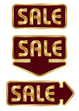 Set of commercial badges Stock Photo