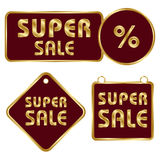 Set of commercial badges Stock Photos