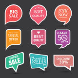 Set of commercial sale stickers, elements badges and labels Royalty Free Stock Photo