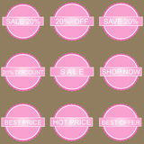 Set of commercial sale stickers Stock Images