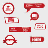 Set of commercial sale stickers, labels and banners Royalty Free Stock Images