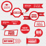 Set of commercial sale stickers, labels and banners Royalty Free Stock Image