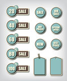 Set of commercial sale stickers labels Royalty Free Stock Photo