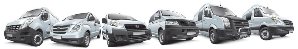 Set of commercial vehicles Royalty Free Stock Photos