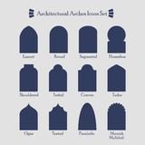 Set of common architectural silhouette arches icon Royalty Free Stock Image