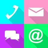 Set communication icons Royalty Free Stock Photo