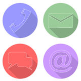 Set communication icons Royalty Free Stock Photo