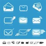 Set of 9 communication icons. Royalty Free Stock Photos