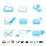 Set of 9 communication icons. Royalty Free Stock Image