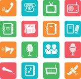 Set of communication icons. Stock Photos